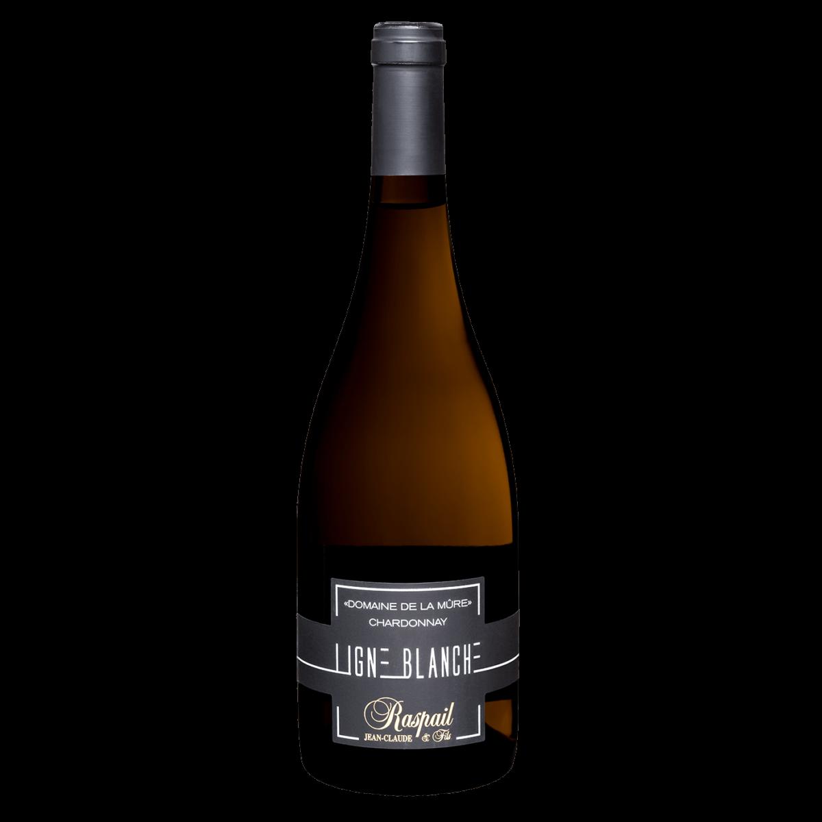 Bouteille vin blanc ligne-blanche